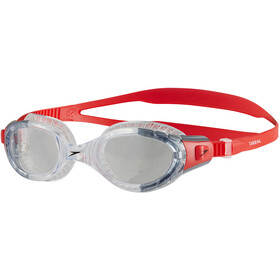 speedo Futura Biofuse Flexiseal Lunettes de protection, lava red/clear
